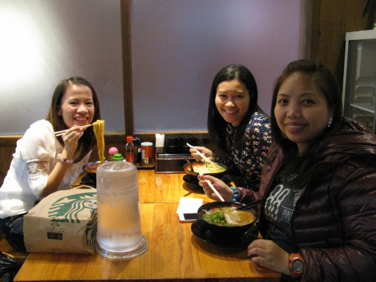 Eating Ramen with Mikki and Ate Aileen