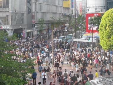 The busiest crossing in all of Japan.